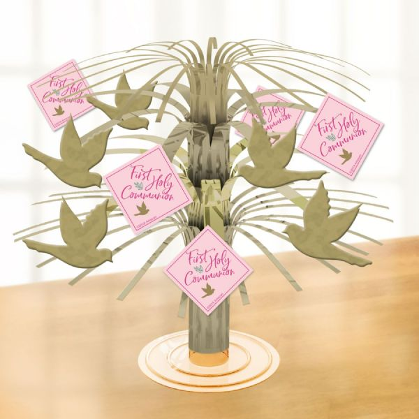 Pink First Holy Communion Centrepieces 30cm